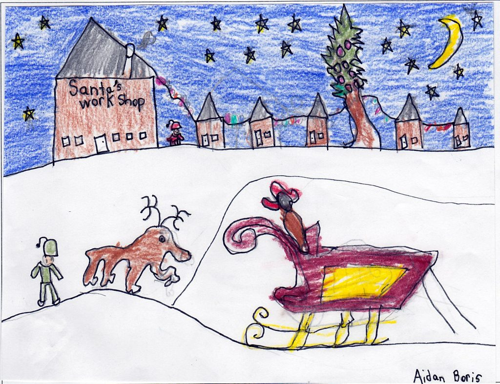Santa and His Super Hero page 1